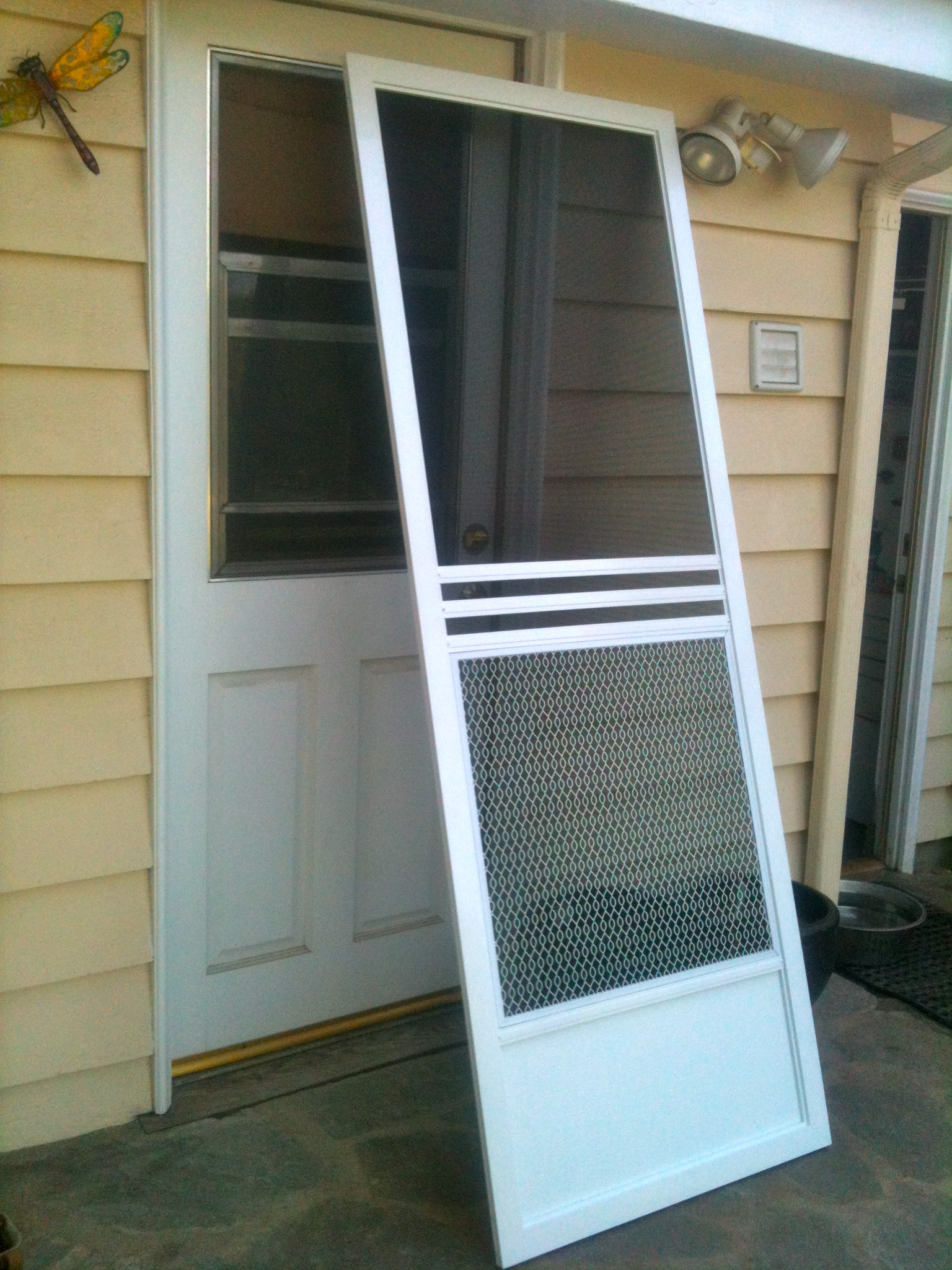 Swinging Screen Door Installation Back