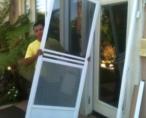 swinging screen door installation