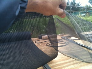 pet screen thickness on reg mesh