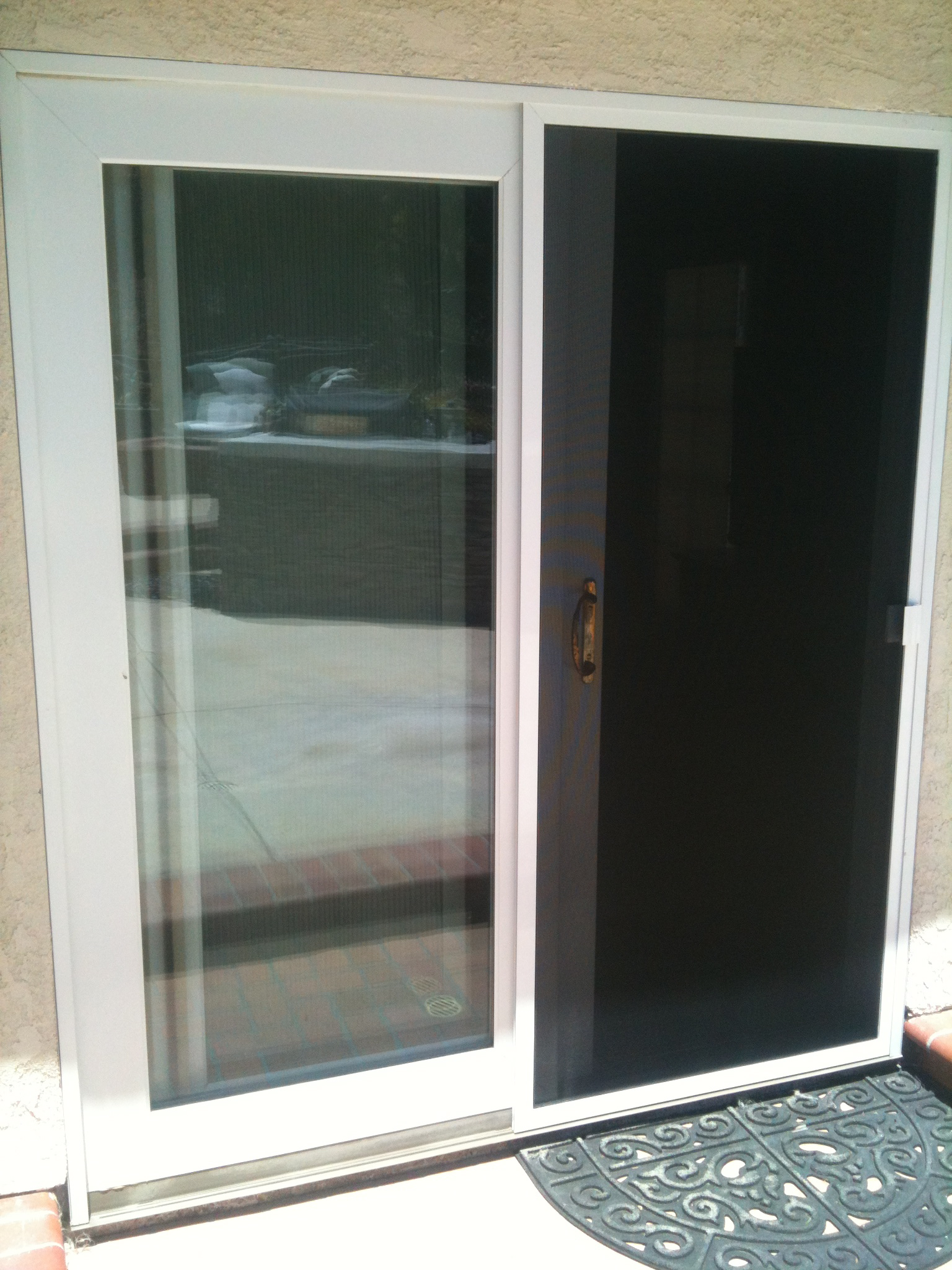 Screen door and window screen repair and replacement simi for Custom sliding screen doors