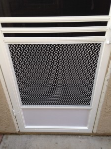 swinging screen door guard