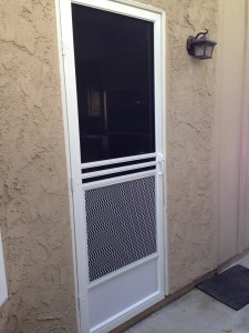 swinging screen door install