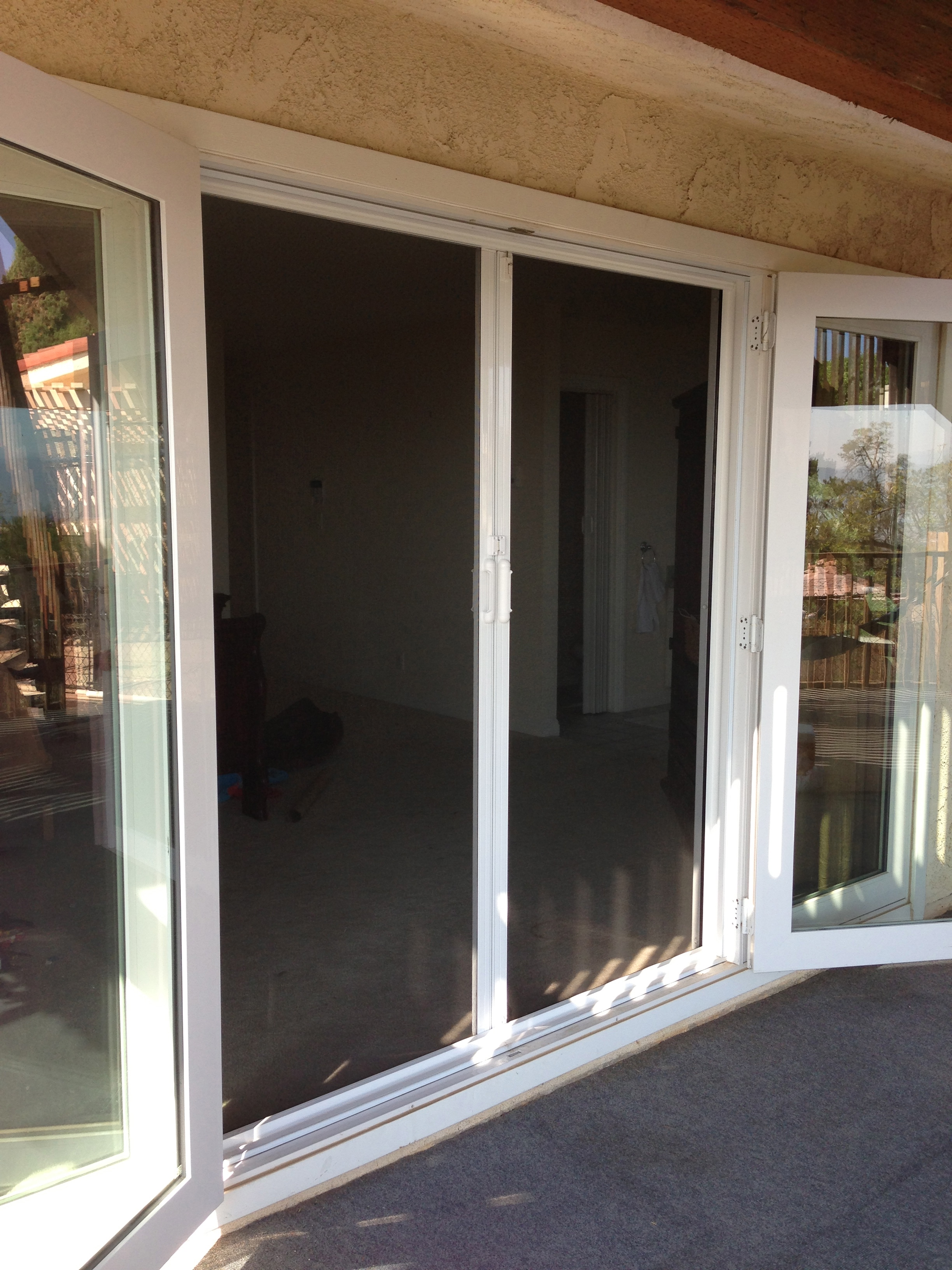 Retractable screen doors screen door and window screen for French door sliding screen
