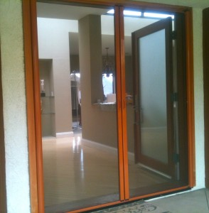 custom finish retractable screen doors