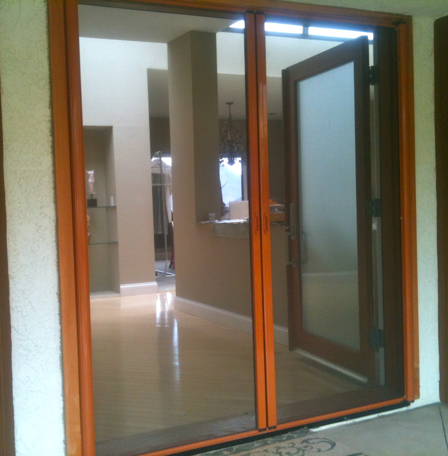 Retractable screen doors screen door and window screen for Custom sliding screen doors