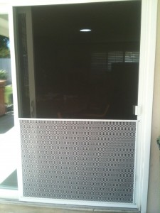 "white pet door for 48"" sliding screen door"