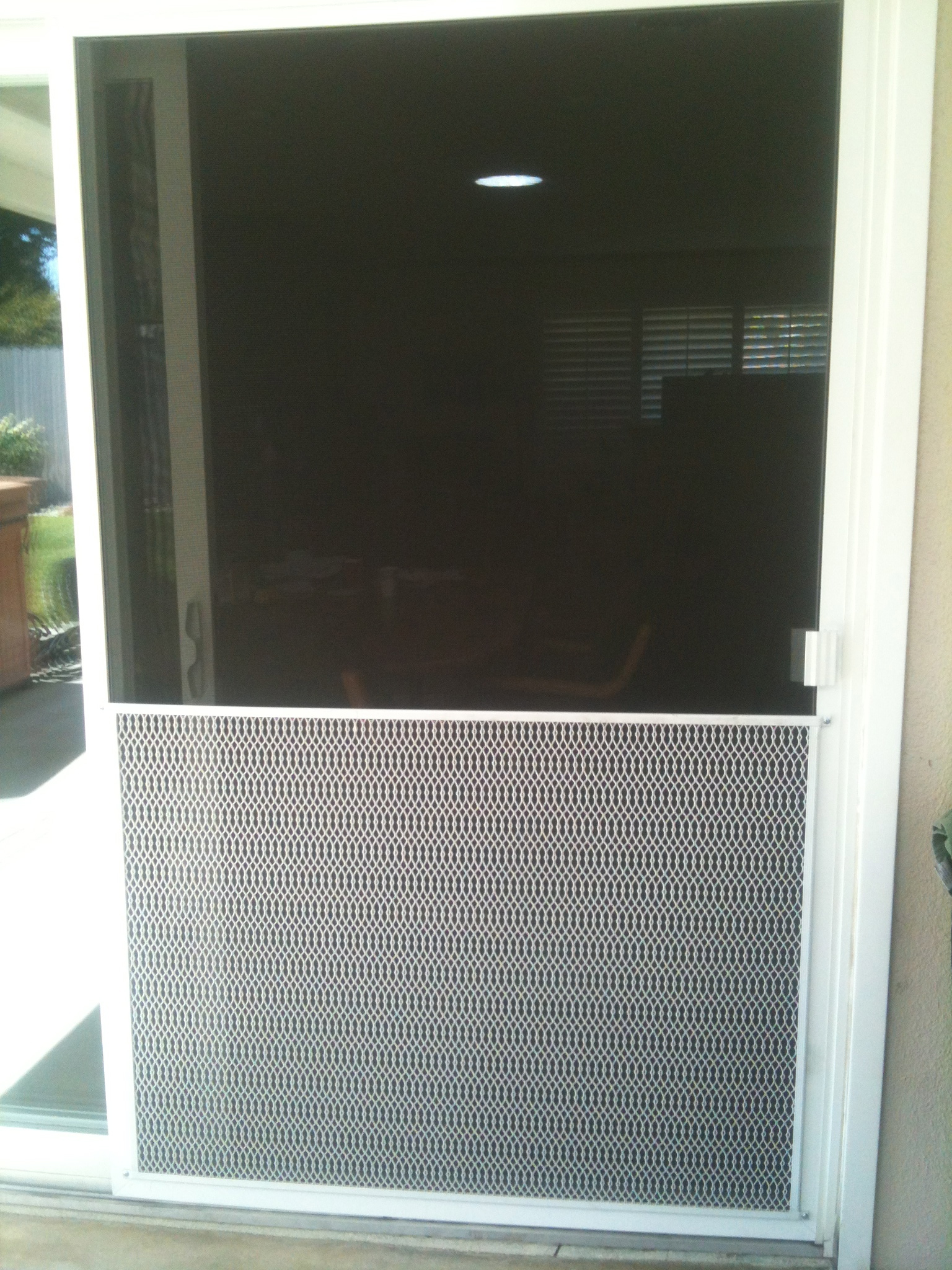 Guard doors door view guard security doors amazing for Cheap sliding screen doors
