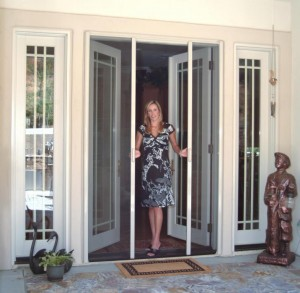 french door retractable screen doors