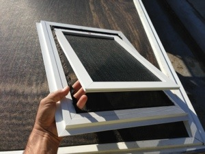 White Large Dog Door Installation In Simi Valley