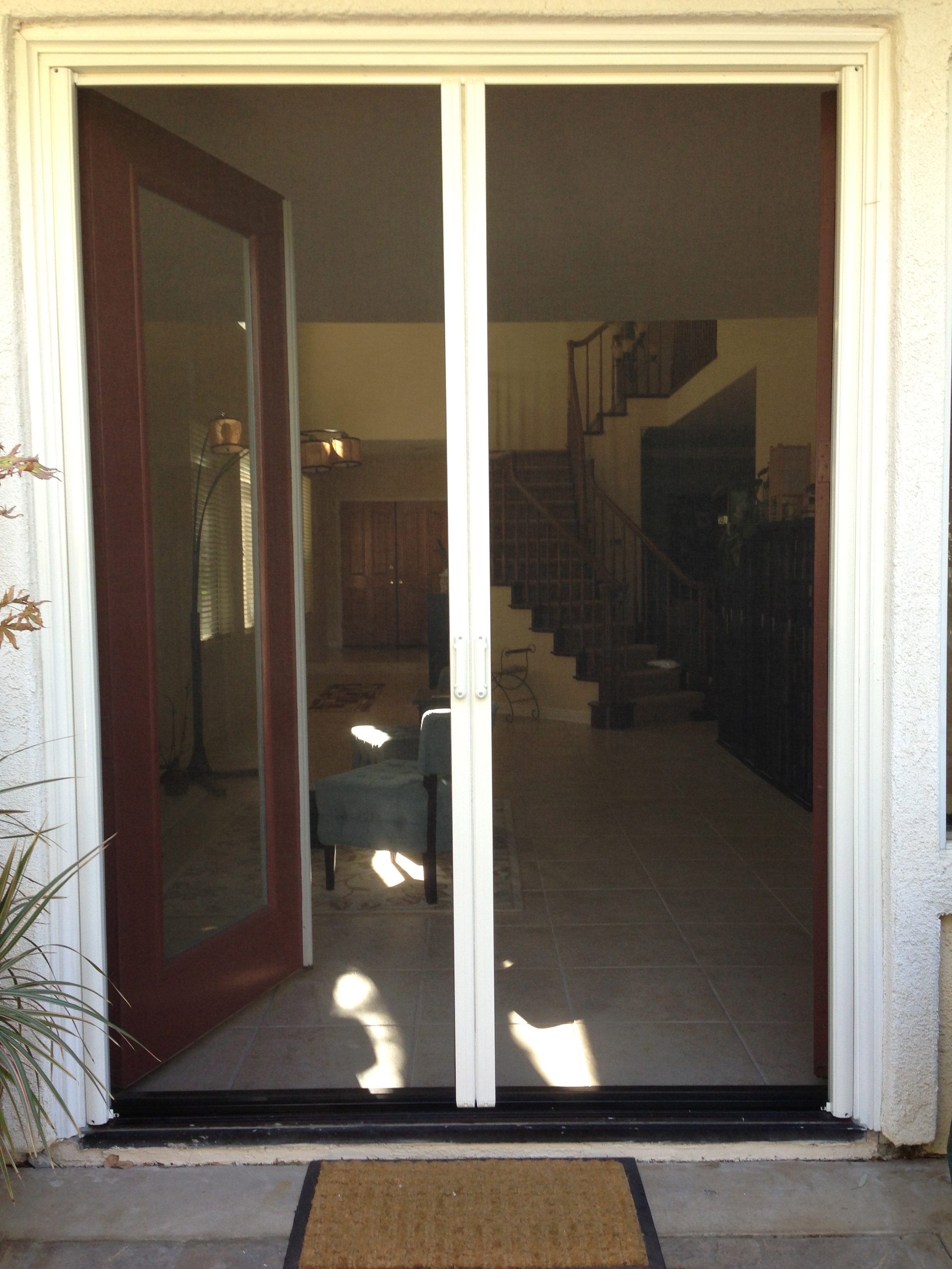 Double french doors with screens 100 screen doors for for Security screen doors for french doors
