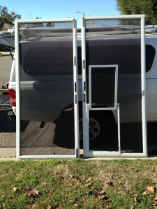 simi valleyscreen door repair with pet screen and door