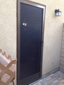 bronze clear view swinging screen door