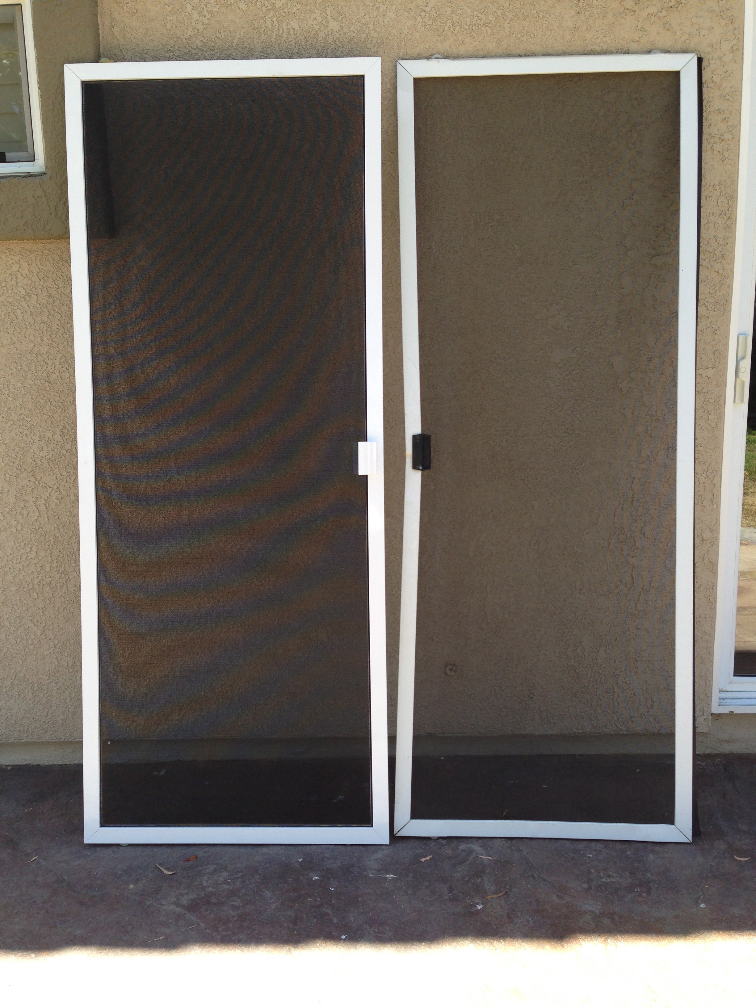 Patio door screen security screen doors security screen for Sliding patio screen door