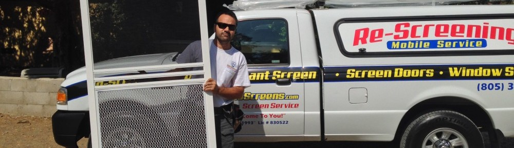 Screen Door & Window Screen Repair Service | 805 304-6778