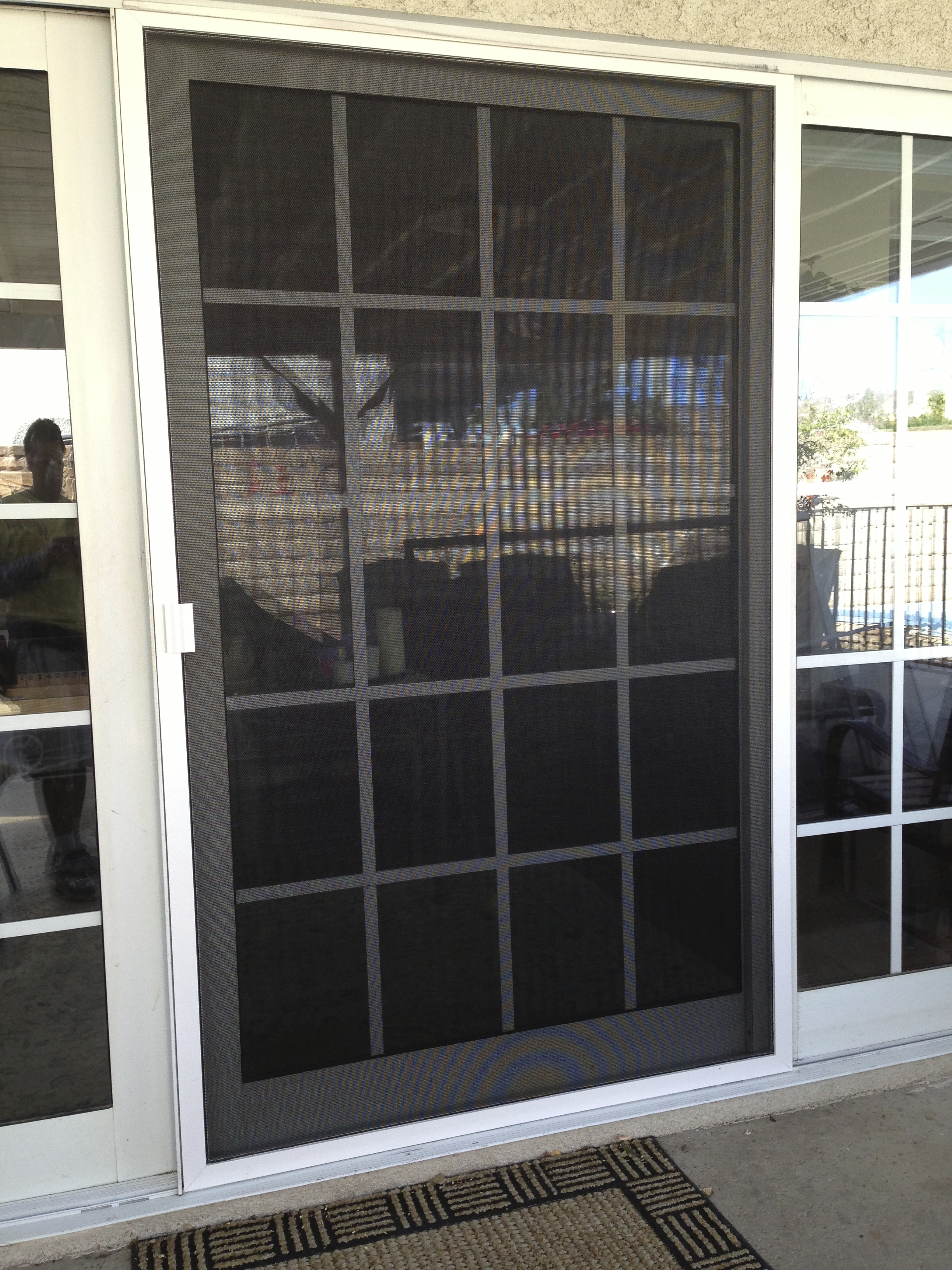 Simi valley screen doors rescreened how to choose the for New sliding screen door