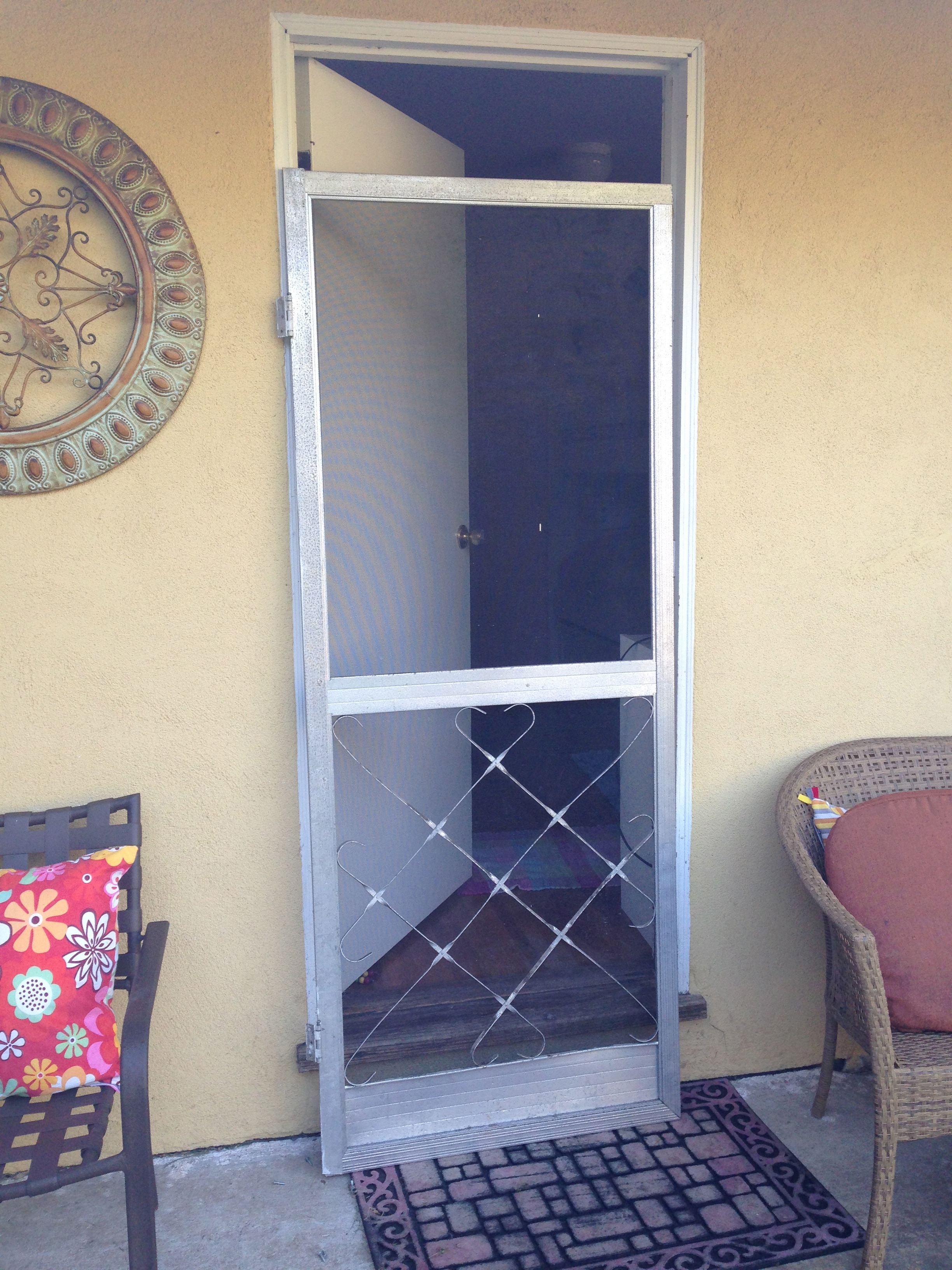 Time To Replace Older Swinging Screen Door Simi Valley City Screen