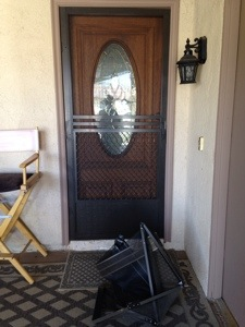 New bronzes swinging screen doors installed